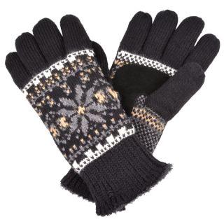 Isotoner Womens Fair Isle Knit Snowflake Pattern Gloves