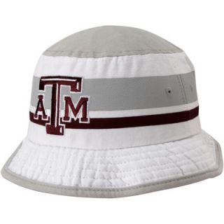 Texas A&M Aggies adidas Stripe Bucket Hat   White