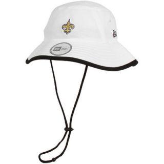 New Era New Orleans Saints Training Bucket Hat   White