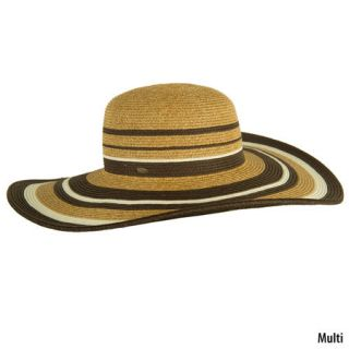 ... Dorfman Pacific Womens Scala Big Brim Paper Braid Striped Hat ... 95b2a55397d7