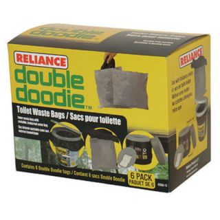 Reliance Double Doodie Toilet Waste Bags 6 pack