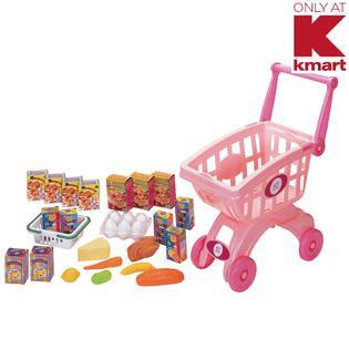 Just Kidz Shopping Cart Play Set   Pink   Toys & Games   Pretend Play