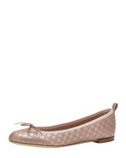 Gucci Ali GG Ballerina Flat, Pink