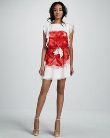 Ali Ro Flutter Sleeve Floral Print Dress