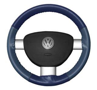 2010 2016 Toyota Prius Leather Steering Wheel Covers   Wheelskins Blue/Sea Blue 14 1/8 X 4 1/8   Wheelskins EuroTone Leather Steering Wheel Covers