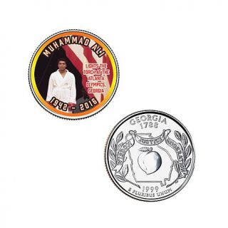 Set of (10) 5 piece Colorized Muhammad Ali State Quarters   8188276