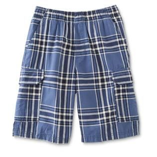 Roebuck & Co. Boys Cargo Shorts   Plaid