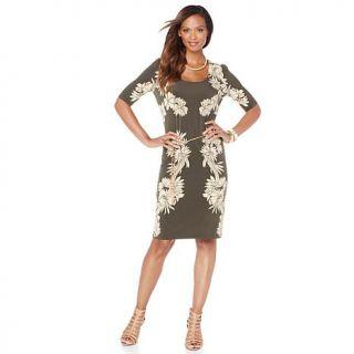 "Nikki by Nikki Poulos ""Bridget"" Dress with Belt   Olive Cut Out   7794142"