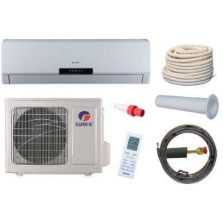 GREE Neo 9,000 BTU 3/4 Ton Ductless Mini Split Air Conditioner and Heat Pump Kit   115V/60Hz NEO09HP115V1AKIT