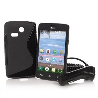 "LG Lucky 3.8"" Android TracFone with Car Charger, Case and 600 Minutes, Te   8033624"