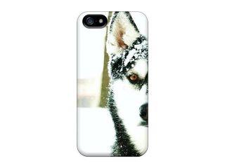 High Grade Ideal Idea Flexible Tpu Case For Iphone 5/5s   Dogs Husky