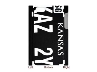 """3D Print CW TV Play Supernatural License Plate """"KANSAS KAZ 2Y5""""  Background Case Cover for iPhone 4/4S   Personalized Hard Cell Phone Back Protective Case Shell Perfect as gift"""