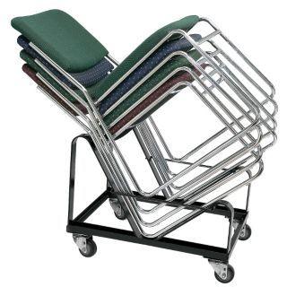 VENDEDOR AUTORIZADO POR GRAINGER Plataforma Rodante para Sillas Apilables,21 x 21 x 26,20 sillas   Carrito para Sillas y Mesas   23PG35|DY86
