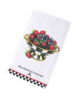 MacKenzie Childs Berry Bowl Dish Towel
