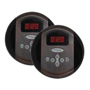 SteamSpa G SC 2 75 OB Dual Control Panel Plus Two Memory Settings   Oil Rubbed Bronze