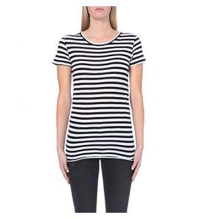 ENZA COSTA   Striped cotton jersey t shirt