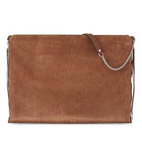 ALLSAINTS   Fleur De Lis large suede shoulder bag