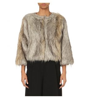 WHISTLES   Colby faux fur jacket