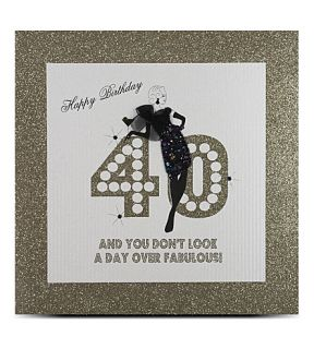 FIVE DOLLAR SHAKE   40th birthday large card