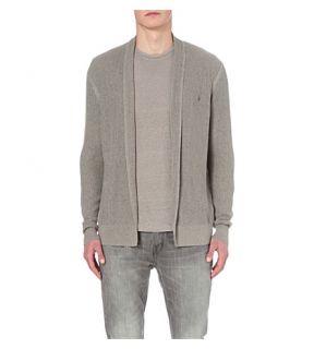 ALLSAINTS   Stein open stitch cotton cardigan