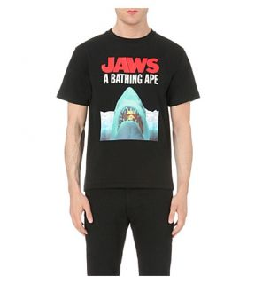 A BATHING APE   Jaws cotton jersey t shirt