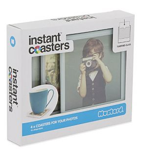 MUSTARD   Instant photo coasters