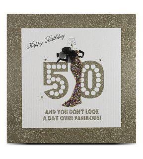 FIVE DOLLAR SHAKE   50th birthday large card