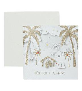 FIVE DOLLAR SHAKE   With Love Nativity Christmas card