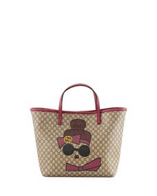 Gucci Kids Doll Print GG Supreme Tote Bag