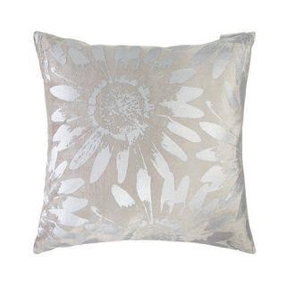 RJR.John Rocha Designer taupe metallic daisy cushion