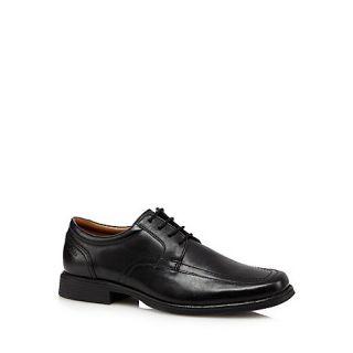 Clarks Black Huckley Spring leather shoes
