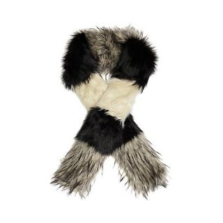 RJR.John Rocha Black patchwork faux fur scarf