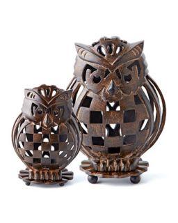 MacKenzie Childs Owl Luminary