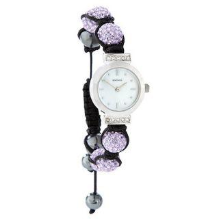 Sekonda Ladies purple crystalla wrist watch
