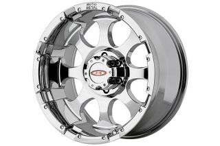 "Moto Metal MO95568080200   8 x 6.5"" Bolt Pattern Chrome 16"" x 8"" MO955 Chrome Wheels   Alloy Wheels & Rims"