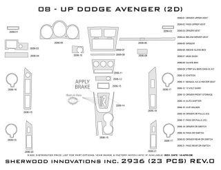 2008, 2009, 2010 Dodge Avenger Wood Dash Kits   Sherwood Innovations 2936 CF   Sherwood Innovations Dash Kits