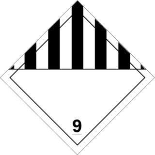 "BRADY 10 3/4"" x 10 3/4"" Class 9 B 120 Premium Fiberglass Vehicle Placard, Black/White   Vehicle Placards and Placard Holders   41F719|63434"