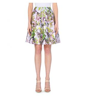 TED BAKER   Goldina window blossom cotton blend skirt