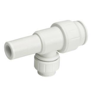 """JOHN GUEST PEX Stackable Tee, 1/2"""" Tube Size   Push to Connect Tube Fittings   16T751