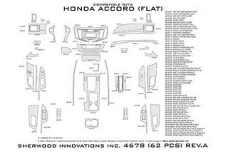 2013 Honda Accord Wood Dash Kits   Sherwood Innovations 4678 AD   Sherwood Innovations Dash Kits