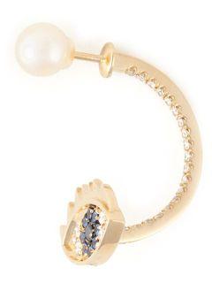 Delfina Delettrez 'eyes On Me Piercing' Sapphire And Diamond Earring   Verso