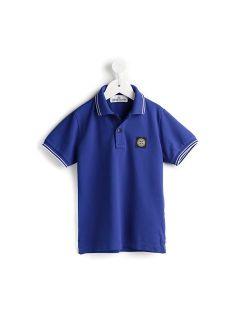 Stone Island Kids Striped Trim Polo Shirt   Sagmeister