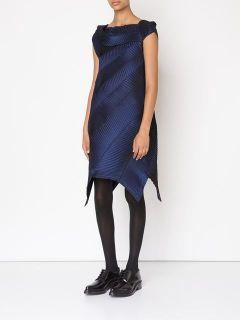 Issey Miyake Asymmetric Pleated Dress   Bernardelli