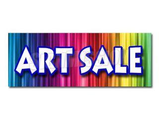 "12"" ART SALE DECAL sticker artist paint brush supplies supply canvas artwork"