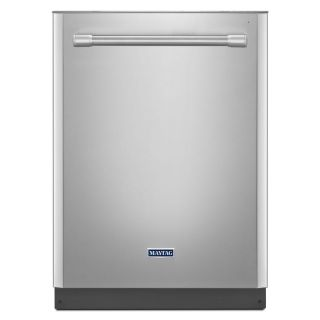 Maytag 50 Decibel Built In Dishwasher with Hard Food Disposer (Monochromatic Stainless Steel) (Common: 24 in; Actual 23.875 in) ENERGY STAR