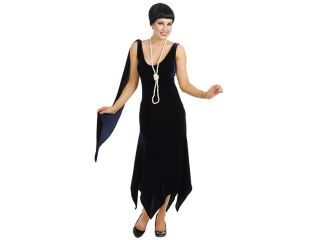 1920s Black Velvet Flapper Dress Halloween Costume