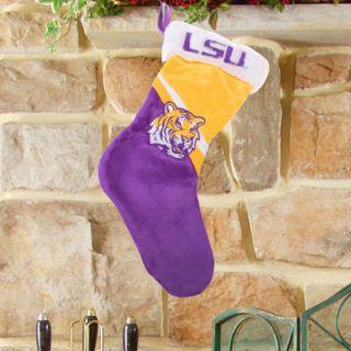 LSU Tigers Swoop Logo Stocking   Purple/Gold