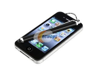 Insten Black Pudding TPU Rubber Case Cover + Black Stylus Pen compatible with Samsung  Galaxy Note II N7100
