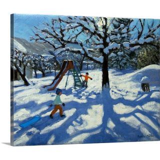 Canvas On Demand The Slide In Winter, Bourg, St Moritz by Andrew