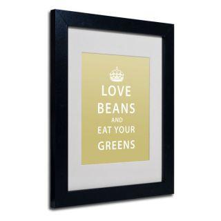 Megan Romo Love Beans White Matte, Black Framed Wall Art   17544898